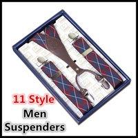 Wholesale 11 Style Men Suspenders Cowskin Man Belts Clip Boys Suspenders Y Shape Adjustable Braces Men Fashion Accessories