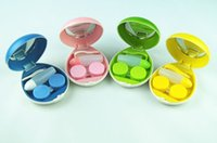 Wholesale 2015 new Egg Design Portable Contact Lenses Box Case Promotional Gift Eyewear Cases Contact Lens Holder