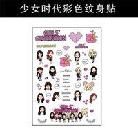 Wholesale 12pcs Temporary tattoos sticker got7 fx snsd sj shinee exo bigbang pm
