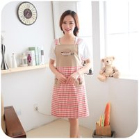 apron embroidered - Three trees sleeveless embroidered strap style home aprons cute fashion anti oil apron