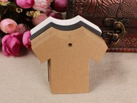 Wholesale 500PCS x5CM Cloth Shaped Blank Kraft tag for Retro Gift tag Table Number cards High Quality Kraft Tag