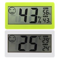 Wholesale Electronic Thermostat Tester quot LCD Mini Digital Indoor Home Wireless Thermometer Hygrometer Temperature Humidity Meter Sensor