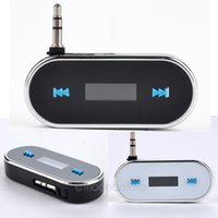 Wholesale Black White Wireless mm In Car Handsfree Car Kit Music Radio MP3 FM Transmitter For iPod iPad iPhone S Galaxy LX DA1088