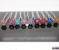 hair grip pin - Crystal Flower Hair Pins Wedding Party Hair Accessories Bride Hair Grips