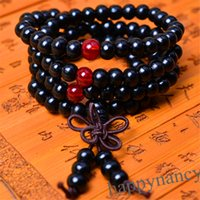 Cheap 1pcs HOT 108 Sandalwood Buddhist Buddha Meditation 6mm Prayer Bead Mala Bracelet Necklace