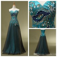 Cheap 2015 sexy new party dresses peacock Prom dresses Sweetheart Tulle Floor Length Prom Evening Christmas Dresses