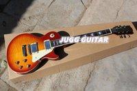 Wholesale Hot sales LP stanard Electric Guitar s sunburst tiger flamed super maple top High quality guitarr free shiping classic and fashion