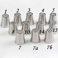 Wholesale set Stainless Steel Russian Tulip Icing Piping Nozzles Fondant Cake Decoration Decorating Tips Sets Tools