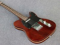 Wholesale Brown color Elm material body TELE electric guitar Elm neck with rosewood fretboard hot selling guitars