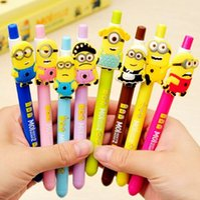 Wholesale 1pc New Cute Kawaii Cartoon Korea Gel pens Colorful Ink Stationery school supplie Creative Gift for children