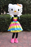 Unisex adult doll costumes - Valentine s Day Rainbow KT cartoon mascot costume dolls latest adult size clothing