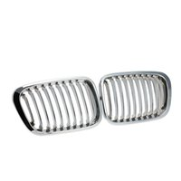 abs chrome plating - 1Pair Plated Chrome Silver Front Grille Grilles for BMW E46 Door Car Accessories K3374