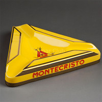 beautiful rest - Montecristo Beautiful Gadgets Large Size Yellow Triangular Ceramic Cigar Ashtray with Rests
