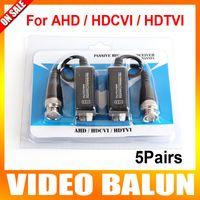 balun transceiver - 5Pairs High Definition BNC To UTP Cat5 e Video Balun HD Transceivers Adapter Transmitter Support P P AHD CVI TVI Camera m