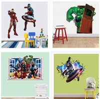Wholesale New The Avengers Wall sticker CM Children D Window Wall Sticker styles Rooms Decorative Wall Decals Home Decoration Posters