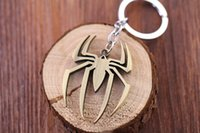 Alloy amazing keychains - Marvel Super Hero Spiderman Keychains The Avengers The Amazing Spider Man Metal Keychain Key Ring Pendant Key Chains