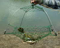 Wholesale 2016 Brand New Fully Collapsible Crabbing Trap Durable Crab trap pot Stainless Steel Frame with hand weaved nets