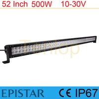 Wholesale 52 quot Inch W Epistar W LED Light Bar For Jeep SUV ATV Offroad
