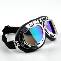 Wholesale New Fashion Unisex Motorcycle Glass Windproof Elastic Band Outdoor Sports Bike Cycling Lens Frame Motorcycle Goggles Color