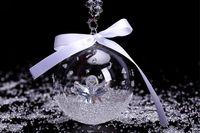 angels express - Swarovski Crystal Angel Ball Ornaments Christmas Modern Art Car Ornaments car Accessorie Car Pendants Express Shipping