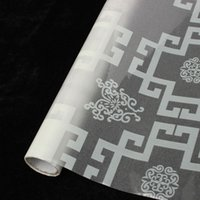 Wholesale High Quality Home Decorative Grid Window Film Stained Glass Vinyl Privacy Covering Frosted DIY cm
