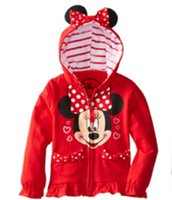 Wholesale 2016 Spring autumn Long Sleeve coat clothing mickey children hoodies cartoon baby hoodies upper garment T ESY113