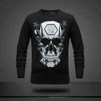 Wholesale New arrive P5913 New MEN S CONTTON skull SWEATERS top quality