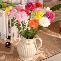 Wholesale 22 quot artificial carnations artificial silk flower artifical flower real touch carnation mother s gift home deco Happy mother s day
