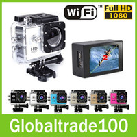MicroSD / TF waterproof camera - SJ6000 W9 Gopro Sport DV Cameras Wifi Action Camera Wireless Video Recorder inch P Wide Angle Car DVR M Waterproof