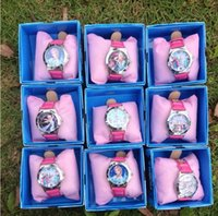 disney wholesale - fashion new HOT SALE children watch Boxed children birthday gift frozen watch elsa