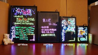 Wholesale 7 Colors LED Writing Sparkle Board Sign remote Flashing Illuminated Erasable led Message writing board Menu for Advertising display equi