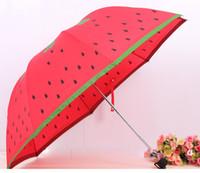 beautiful berry - summer watermelon straw berry sun rain Umbrella Fold Anti UV adults beautiful gift fashion hot selling UK fruit