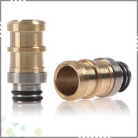 metal o rings - Newest Metal drip tips Brass Stainless Steel Hybrid Drip Tip eGo mouthpieces for E Cigarette with Double O Rings DHL Free