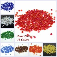 Cheap Round Shape Glass Beads 2000pcs 2mm AB Colors Many For Choose Glass Seed Spacer Beads Jewelry Making DIY