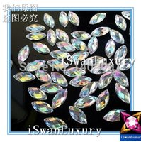 Wholesale Top Rated Best Acrylic Crystal x12mm Clear AB Color Navette Marquise Strass Stones Sew on For Sewing Rhinestones Accessories