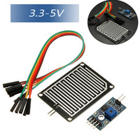 Wholesale New V Rain Raindrops Detection Sensor Rain Module Weather Humidity Module For Arduino