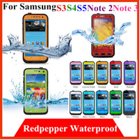 Cheap Waterproof Water proof Redpepper cover Case for Samsung galaxy S3 S4 S5 note 2 3 N7100 N9000 red pepper shcokpoof Mobile Phone Cover Cases