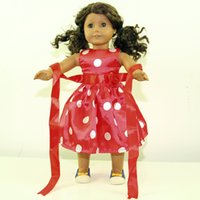 american girl doll clothing - Brand New Party Gifts For Children Girls Dolls Red Clothes Accessories Fashion Dress For American Girl Dolls