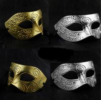 big mens halloween costumes - Big Promotion Men s retro Greco Roman Gladiator masquerade masks Vintage Golden Silver Mask Carnival Mask Mens Halloween Costume Party Mask