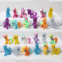 baby toy horse - 4 cm Little Toys Animal Pets Rainbow Horse Girls Collection Toys Gift For Baby