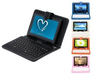 Wholesale US Stock IRULU quot inch Q88 ALLwinner A33 Quad Core Tablet PC Android MB GB GHz Dual Cameras Bundle Keyboard