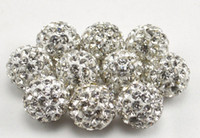Wholesale mm mm mm mm mm white cam choose size Crystal Shamballa Bead Bracelet necklace Jewerly spacer beads