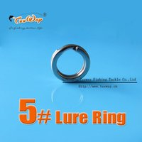 Wholesale All Size Lure Ring Stainless Steel Split Rings Can Connected Fishhooks For Hard Bait Fishing Ring Bass Walleye Fishing