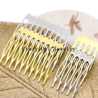 Wholesale 10pc Teeth Teeth Gold Silver Vintage Hair Combs For Brides Clips Hair Findings Accessories Y970