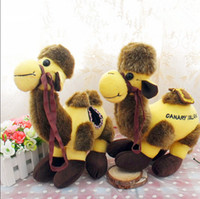 beautiful figurines - High quality super beautiful yellow sheep camel camel plush toys Hold pillow doll dromedary figurines cute dolls