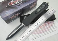 Wholesale Hot sale Microtech A162 Double Action Troodon Combat Knife HRC blade zinc aluminium alloy handle outdoor survival knife