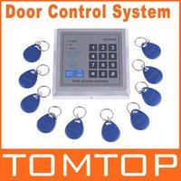 RFID Access Control - RFID Proximity Entry Door Lock Access Control System with Key Fobs freeshipping dropshipping
