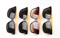 wood eyewear - Wood Sunglasses Designer Natrual Bamboo Sunglass Eyewear Glasses Style Hand Made Wooden Driving Men women colors Brand Polarized uv400