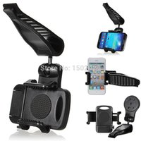 Wholesale For Samsung For iPhone For HTC Hot Sale Portable Universal Car Sun Visor Mount Holder Bracket Stand For Mobile Phone
