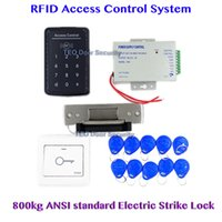 Wholesale Touch to Open Door RFID Access Door Access Control System Heavy Duty Electric Strike Lock V to V DC V A Power Supply